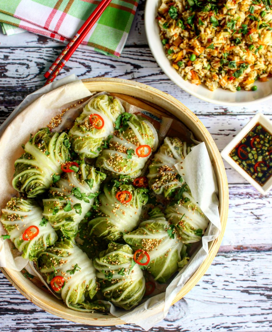 Chinese Cabbage Rolls Stuffed With Pork And Rice Olalacooking Com